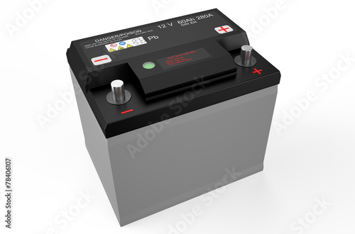 Leinwanddruck Bild black battery car