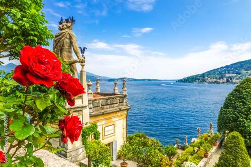 Leinwanddruck Bild Isola Bella Lago Maggiore