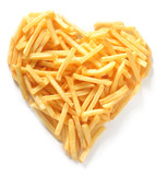 Straight Cut French Fries in Shape of Heart
