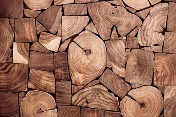 ces of teak wood stump background