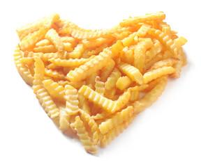 Heart shape from crinkle cut potato chips