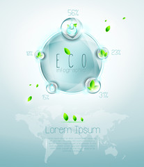 Eco infographic, named layers