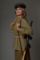 Beautiful girl in uniform
