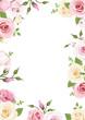 Obrazy na płótnie, fototapety, zdjęcia, fotoobrazy drukowane : Background with pink and white roses and lisianthus flowers.