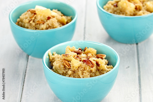 Fotobehang Granen Quinoa with Nuts, Apples and Maple Syrup