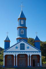 Iglesia de Tenaun on the island of Chiloe