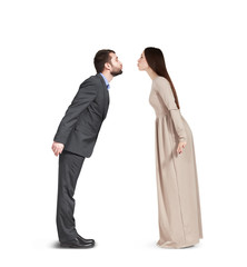 kissing couple in love isolated