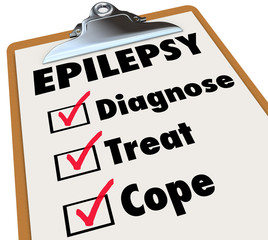Epilepsy Check List Clipboard Diagnose Treat Cope With Disorder