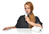 woman using nebulizer for respiratory inhaler Asthma Treatment poster