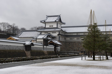 金沢城、冬