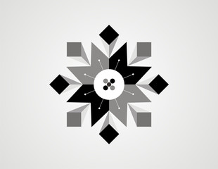abstract star geometry vector design
