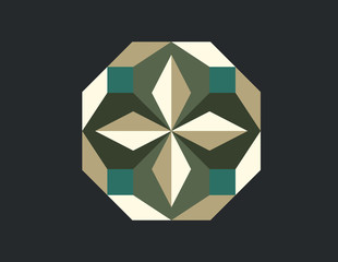 abstract geometry vector design
