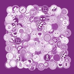 Purple caps color