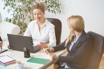 Women on business meeting