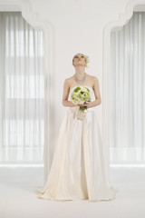 Bride is facing up