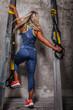 Awesome blond female in sportswear