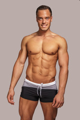 Young guy with great body anatomy.