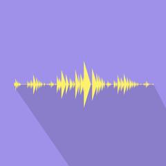wave audio music stream flat design vector