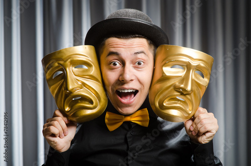 Papiers peints Opera, Theatre Funny concept with theatrical mask