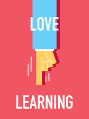 Words LOVE LEARNING