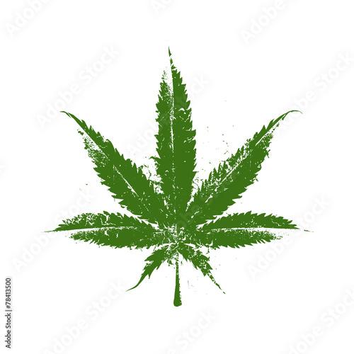 Marijuana Grunge Leaf - 78413500