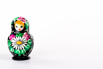 isolated russian doll