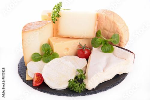 Papiers peints Produit laitier various types of cheese