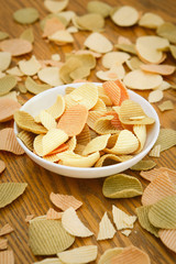 Veggie chips on a white plate