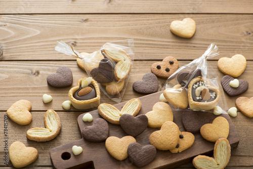 ハートのクッキー チョコレート お菓子