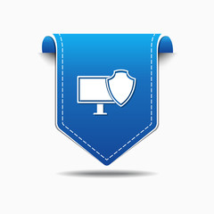 Protected Sign blue Vector Icon Design
