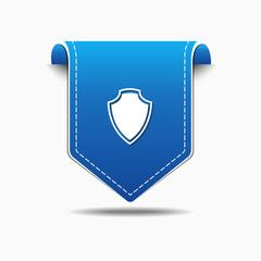 Shield Sign blue Vector Icon Design