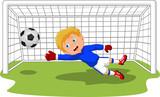Sport-Herausforderungen eines Fußballspielers