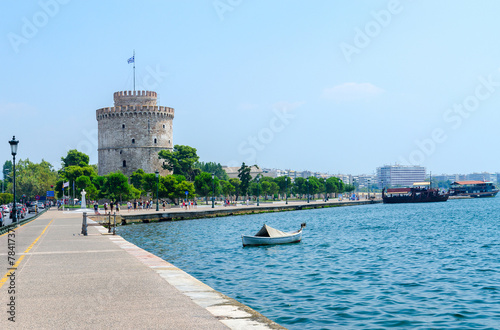 Greece, Thessaloniki, White Tower on the waterfront