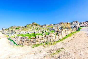 Umm Qais in the Decapolis city of Gadara in northern Jordan