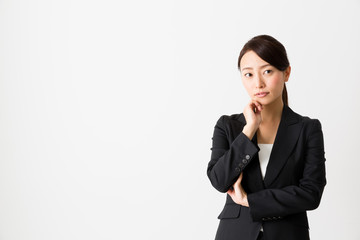 asian businesswoman on white backgroound