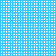large dots with blue background