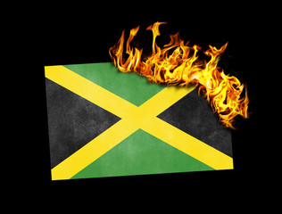 Flag burning - Jamaica