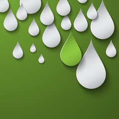 Green drops background