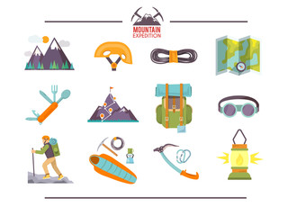Colorful flat vector icons set . Quality design illustrations