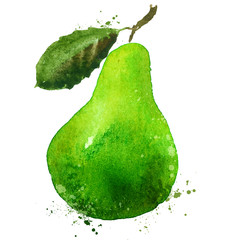 PEAR vector logo design template. food or fruit icon.