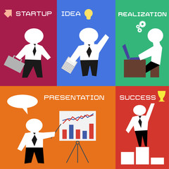 business process in flat style