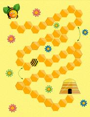 Jeu de plateau, thème abeille