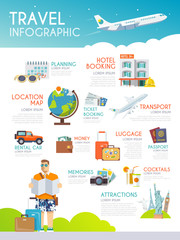 Colourful travel vector infographic. The concept of infographics