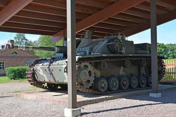 75-mm self-propelled and artillery installation (Stug III - Stur
