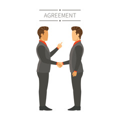 Businessman agreement or deal vector concept