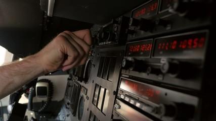 Jet Airplane Pilot Control in Turbulent Cockpit