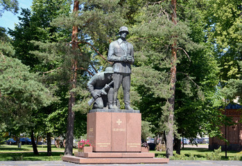 Monument to the Finnish officers who were lost in 1939-1945. Cit
