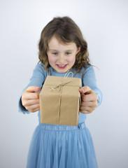 girl receiving present