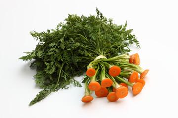 Bund Möhren, Karotten, Wurzeln - abgeschnitten