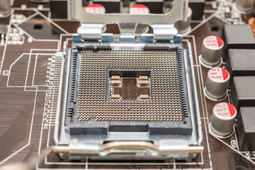 CPU Socket On Computer Motherboard